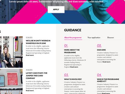 Home page desktop-work in progress