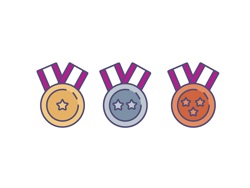 Medals ranking medals icons