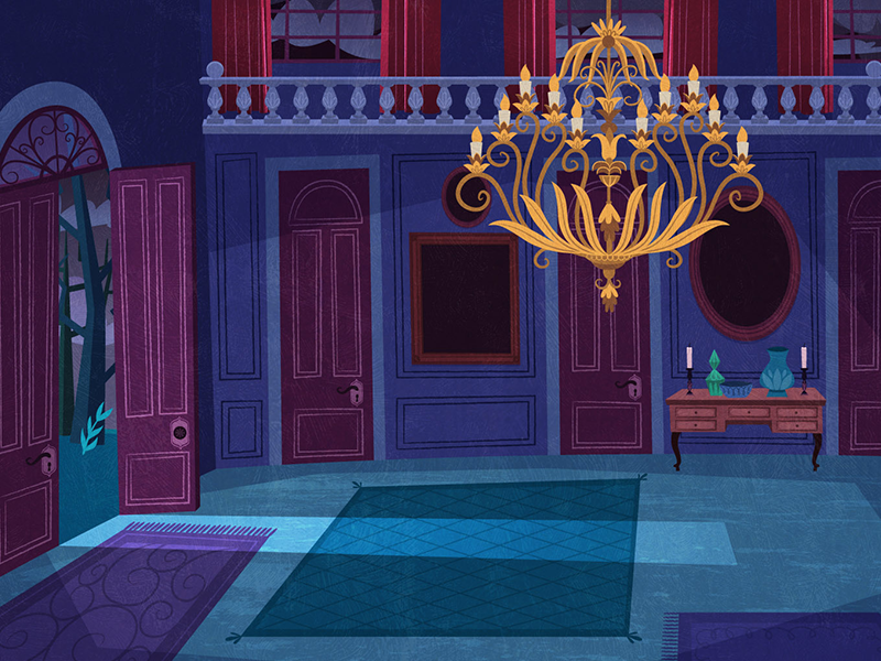Background detail house serie animation background