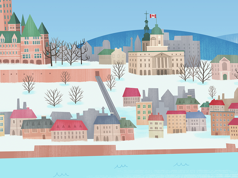 Background Canada countries concept cartoon serie animation background
