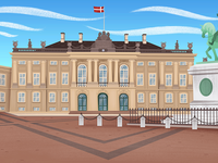 Denmark, Amalienborg palace.
