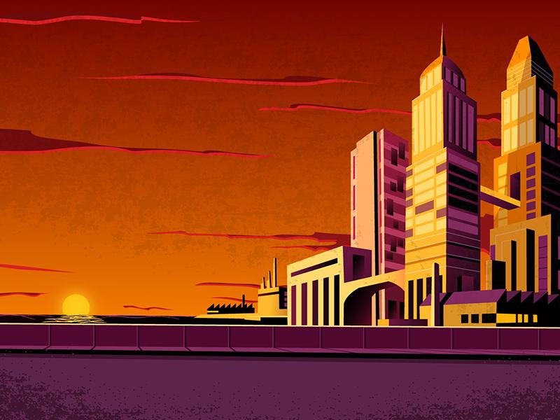 Batman sunset animation batman cartoon background