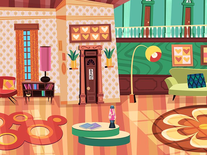 "Another Background for the Serie ""Ciro Todorov"" 70´ serie fondosparaanimacion dibujosanimados cartoon background animation animacion 2d"