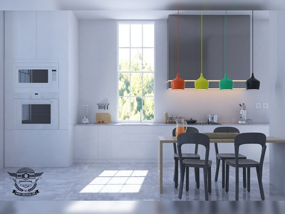 Kitchen render cg draw food kitchen 3d