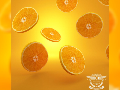 Orange fruit cg render draw orange 3d