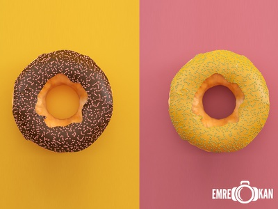 Donut vray cg render draw donut chocolate food 3d