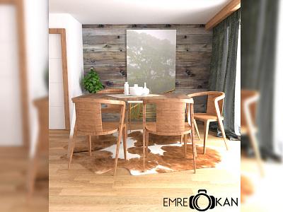 Livingroom food wood draw render cg livingroom 3d