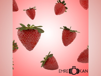 Strawberry vray 3dsmax render cg food fruit draw strawberry 3d