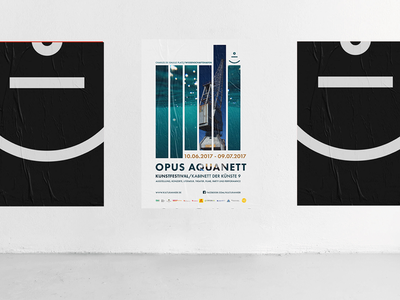 Opus Aquanett Poster icon branding design logo editorial layout minimal design typography mockup editorial design print poster praedikat branding
