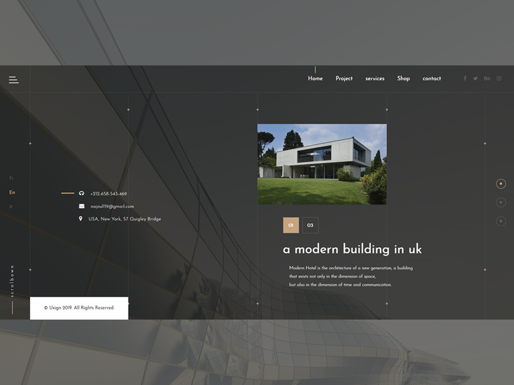Architectural Design Websites By Uxign Dribbble Dribbble