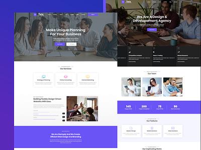 Tala- Business & Digital Agency Template javascript html css bootstrap agency branding agency landing page enavto themeforest agency