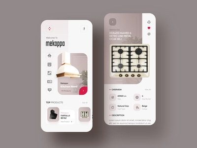 Mekappa Appliances Home Ui Design app design uxui app hood shop uidesign trend uiux design ui appliances