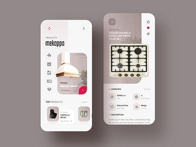 Mekappa Appliances Home Ui Design app design uxui app hood shop uidesign trend uiux design ui appliances