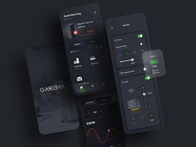 Gardenia Smart Home App Ui Design uidesign uxui dribbble hood smarthome ui appdesign trend app uiux design