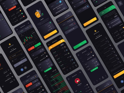 Exnovin App Ui Design | The largest platform for buying and sell sell buy market crypto wallet exchange trading finance card graph ui chart tether bitcoin app crypto currency invest
