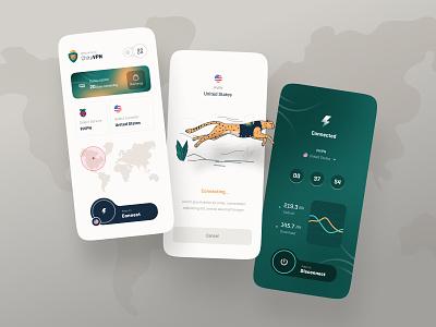ChitaVPN App Ui Design uiux connecting design trend app uidesign vpn ui