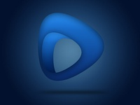 3D Dark Blue Logo Design Concept