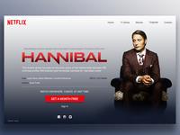 Hannibal series Netflix Landing Page