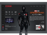 Far from home Landing page concept