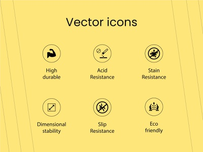 Durable-Acid-Stain-stability-Slip-Eco Vector icons vector art icons design icons vector icons
