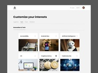 Learning Courses landing page