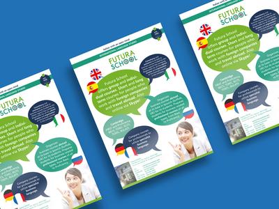 Flyer Futura School graphic design marketing publicity a4 flyer