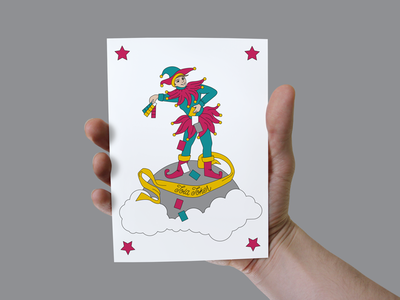 Jola Joker gift card for clients gift card tweak card illustration