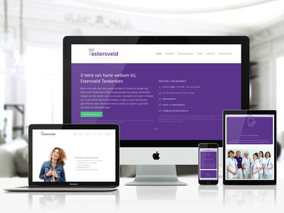 Estersveld Webdesign photography one-page wordpress responsive webdesign