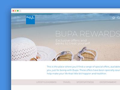 Bupa Reward - Web UI css invision icon adobe photoshop responsive design html email marketing ux ui design design adobe xd ui