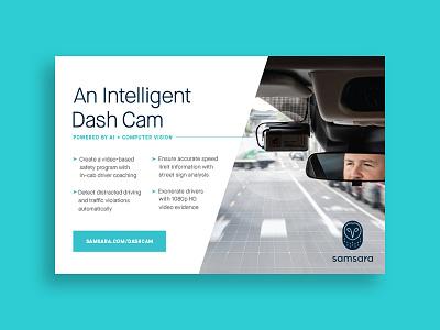 AI Dash Cam Ad computer vision brand print tech iot camera dashcam ai