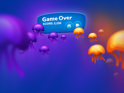 Jelly Bubble - Game Over html5 iphone hyper casual game hit game mobile game game art design 2d game 2d art game play game design ui