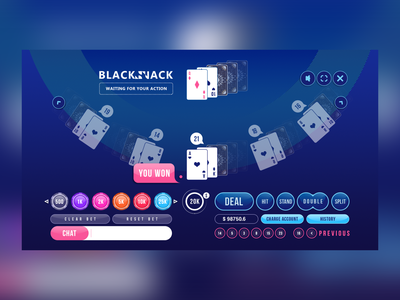 Blackjack HTML5 Gameplay app ui hyper casual game uiux design ui game art 2d art 2d game game play game design