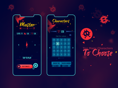 Game Art - Master HIT UI Design hyper casual game game play mobile game game design iphone 11 mockup iphone11pro ui design uiux 2d art 2d game ui game art