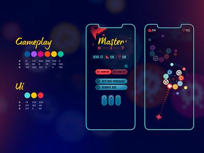 Game Art - Master HIT Primary Colors colors ui design 2d art 2d game uiux hyper casual game game art game design ui