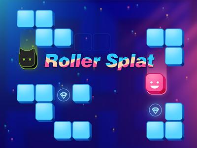 Game Art - Roller Splat game design uiux design ui design uiux 2d art game play ui 2d game mobile game hyper casual game game art