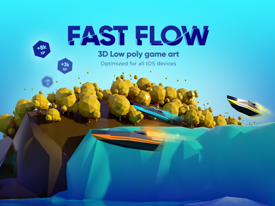 Game Art - Fast Flow 3D ios app design low poly game low poly 3d art uiuxdesign ui design uiux game play ui mobile game hyper casual game game design game art