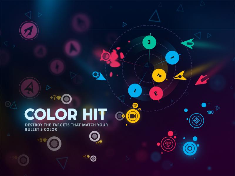 Color Hit - Game play illustration design color hit game play hit game ui hyper casual game mobile game game design 2d game game art 2d art