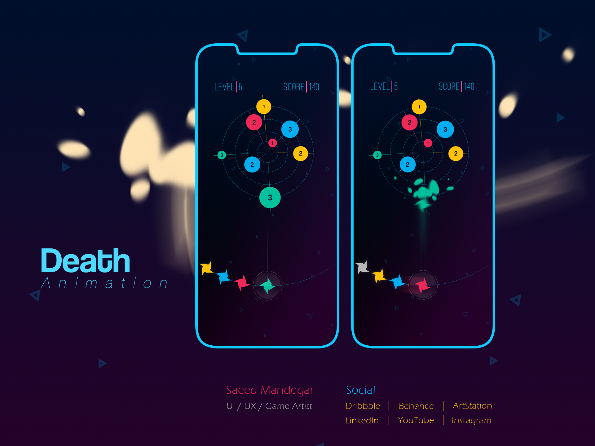 Color hit   death animation for dribbble