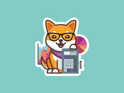Kami Math Sticker shibainu stickermule kami dog