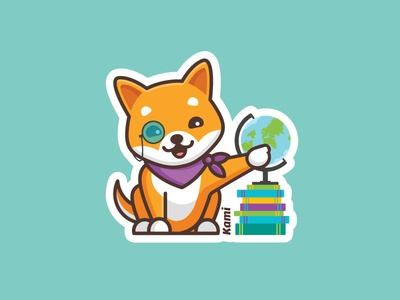 Kami Social Studies Sticker shibainu stickermule kami dog