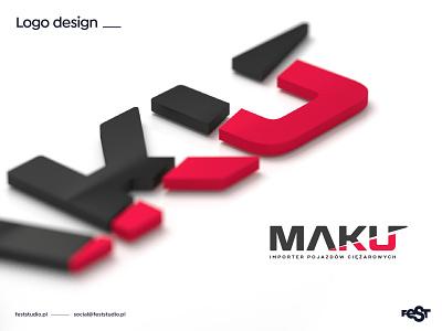 MAKU – logo design. vector illustrator blender3d blender render design logo