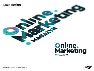 Online Marketing Magazine – logo design webdesign ui blender3d blender magazine layout cover design logo