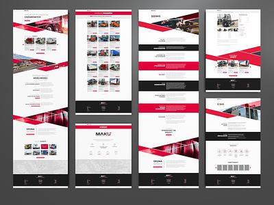 MAKU – web design 2/2 feststudio vehicles webdesign web design website web ux layout ui design logo