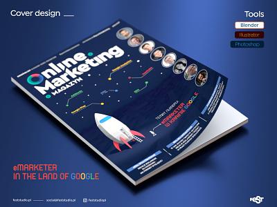 Online Marketing Magazine Cover Design google online marketing illustration magazine cover blender3d blender logo design