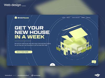 Web design – hero section web design webdesig website illustration web ux ui layout blender3d blender design