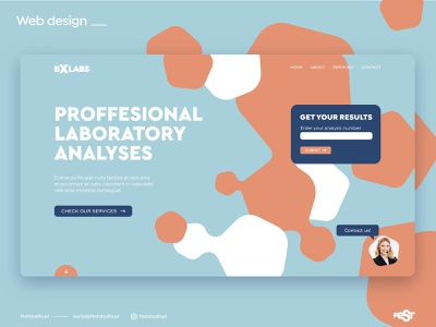 Laboratory web design medical laboratory webdesign ux ui web layout design