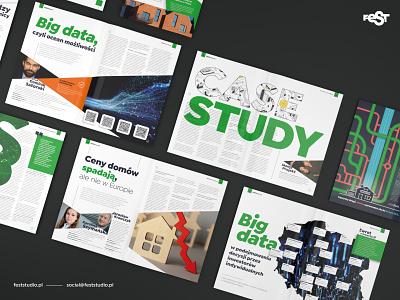Magazine layout design – Lighthouse by Otodom desktop publishing layout magazine design