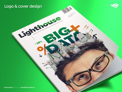 Logo and cover design for Lighthouse#2 magazine by Otodom illustration cover magazine layout logo design
