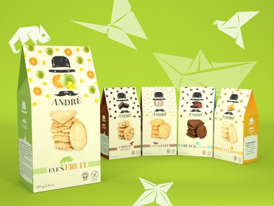 Andre packaging and logo design cookies design logo packaging