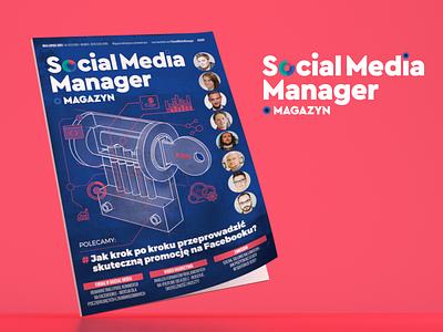 Social Media Manager cover & logo design layout magazine design logo cover